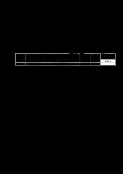 Sąskaitos faktūros šablonas su eurais