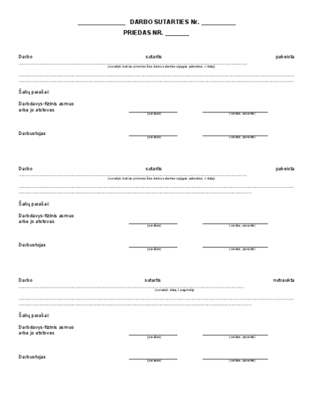 Darbų atlikimo sutartis. Pavyzdys, šablonas, pvz, forma. formulemini.lt